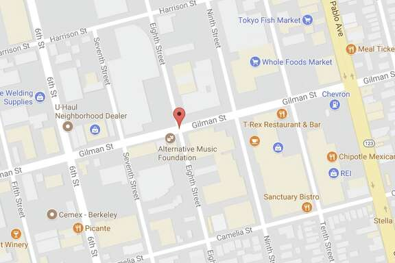 The gas leak caused by a construction crew happened around Gilman and Eighth. Image: Google Maps