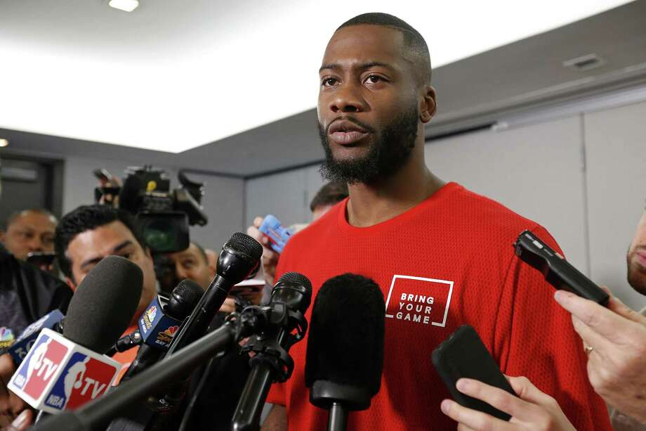 Jonathon Simmons San Antonio Spurs  Jonathon Simmons answers questions from  the media Monday May 15 89959868dec2c