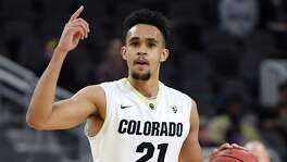 Colorado guard Derrick White was the Spurs' first-round draft pick on June 23, 2017.