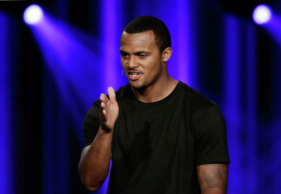 Houston Texans quarterback DeShaun Watson will help Houston Habitat for Humanity and Ashley HomeStore help 176 families who live in Habitat for Humanity homes get back on their feet after damage from Hurricane Harvey. Photo: Michael Wyke, Freelance / © 2017 Houston Chronicle