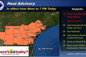 The National Weather Service has issued a head advisory for all of South Texas until 7 p.m. Friday, June 23.