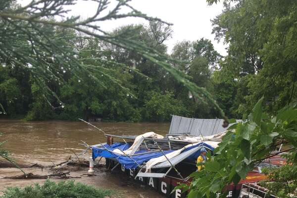 Equipment being used to update the Tridge was damaged during a storm that hit Midland early Friday.