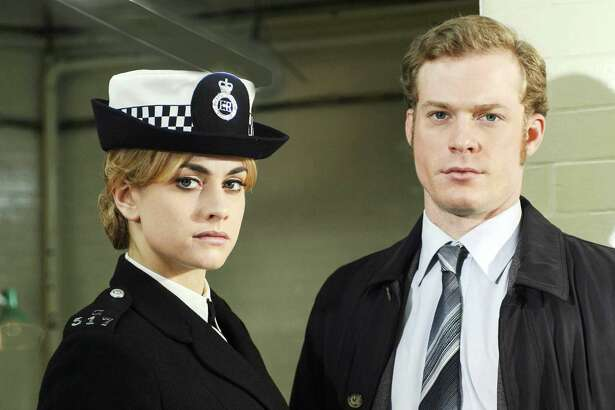 "Stefanie Martini, left, and Sam Reid costar in PBS' rewind of the ""Prime Suspect"" series. On ""Prime Suspect: Tennison,"" Martini plays a rookie just learning the ropes in a very sexist environment."