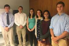 Joseph Peiser (second from left) was one of seven students and the only student from New Canaan, CT to receive a scholarship from the Silvermine Community Association in June 2017.