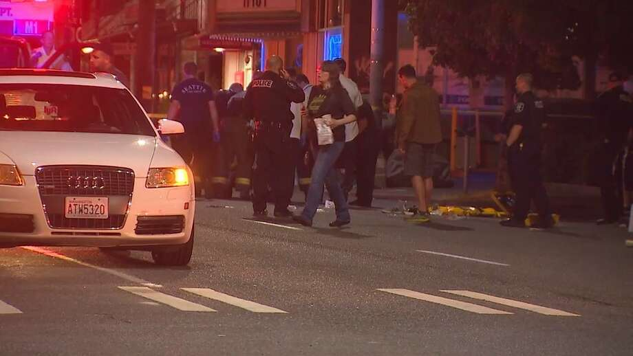 The 26-year-old man stabbed outside the Lower Queen Anne Dick's Drive-In early Friday morning has died, police confirmed. Photo: KOMO News