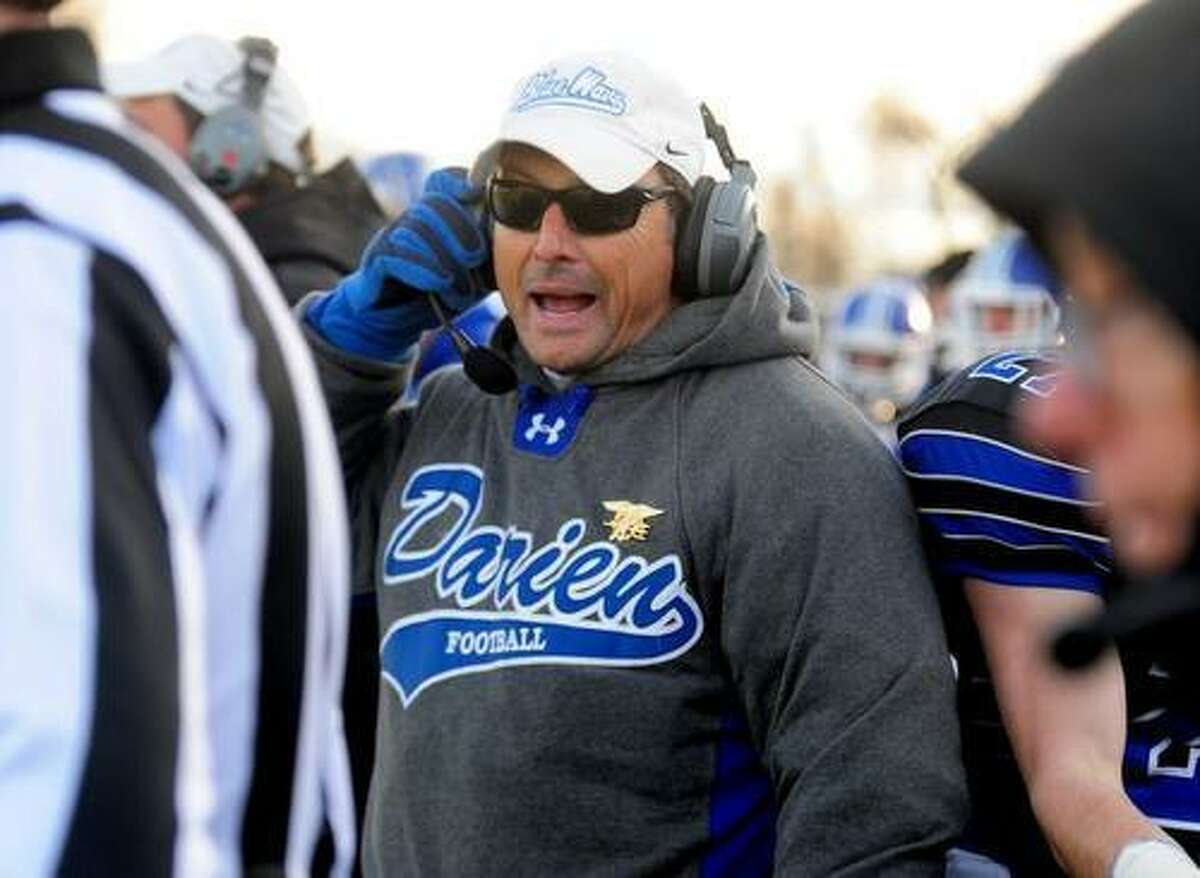 Darien High School football coach Rob Trifone was recently suspended for 10 days without pay from his role as a science teacher.