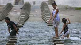 San Antonio has been sweating through prolonged hot and muggy weather since June 13.