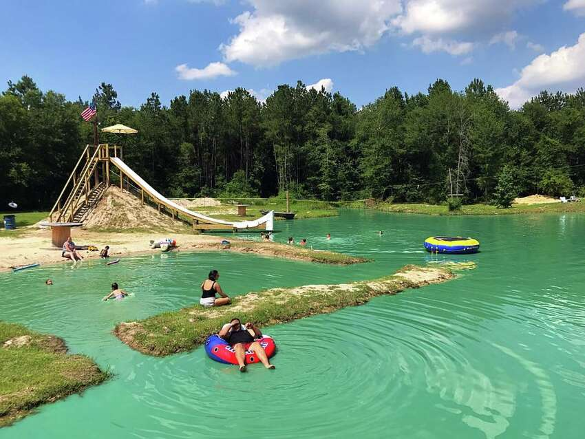 The ranch offers water-based amenities such as diving platforms, a 50-foot slide and ropes course. A lazy bayou, slip-n-slide, games including horseshoes, cornhole and tetherball are new features for this season.