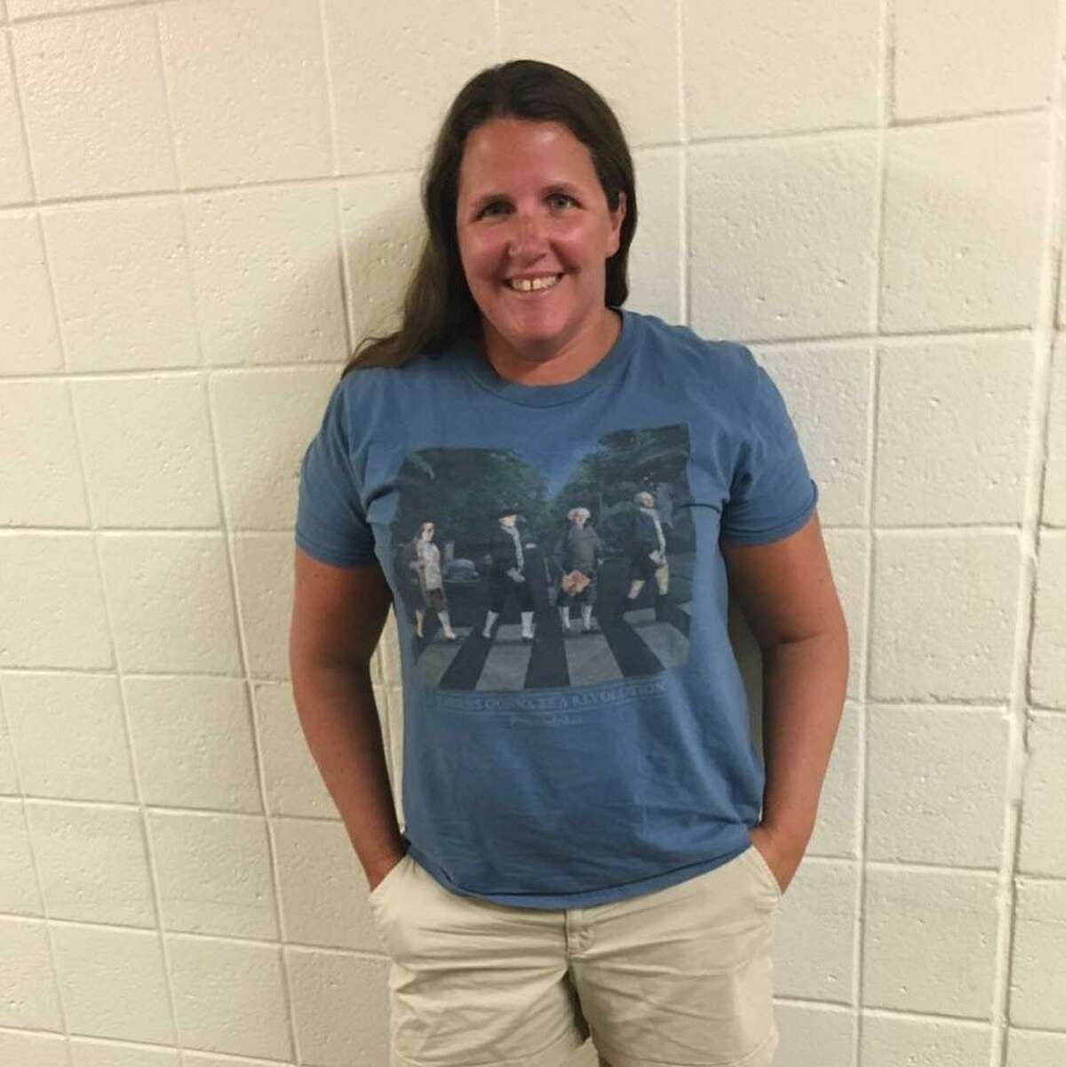 Trumbull High School history teacher Katie Boland