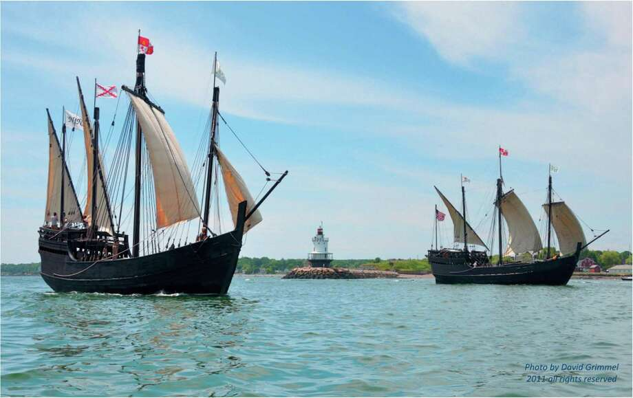 Replicas of Columbus' ships, the Nina and the Pinta, will be docked at Captains Cover Seaport in Bridgeport through Wednesday morning, July 5. Photo: David Grimmel / Contributed Photo / David Grimmel / Connecticut Post contributed