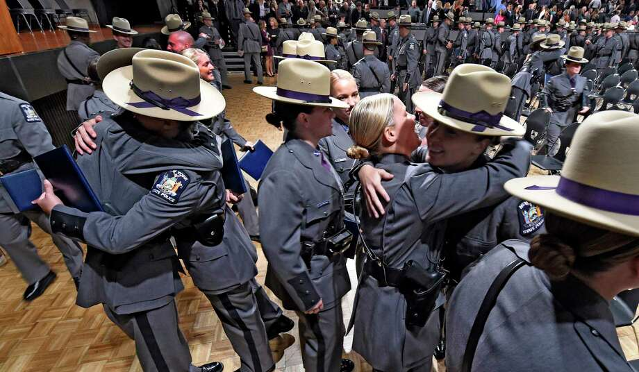 Allegations of female recruits drinking with training officers at the State Police Academy swirled around the 204th Basic School class that graduated in October 2016.  (Skip Dickstein/Times Union) Photo: SKIP DICKSTEIN / 20038365A