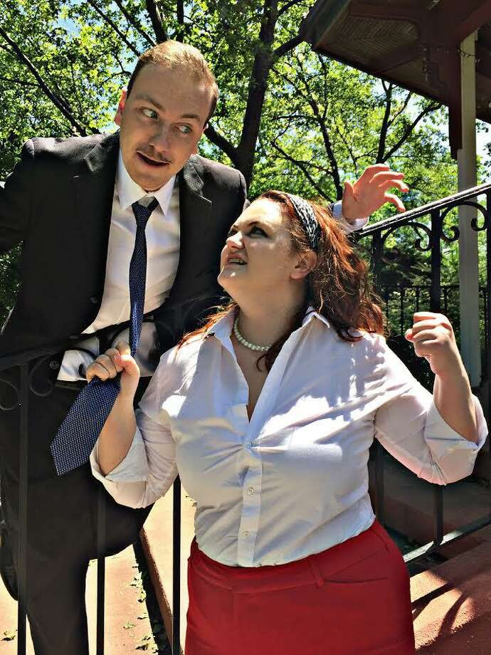 "Michael Gardiner plays Petruchio and London Griffith is Katherina in the 1960s era ""The Taming of the Shrew"" set for an outdoor performance in Stratford July 1. Photo: Contributed Photo / Connecticut Post Contributed"