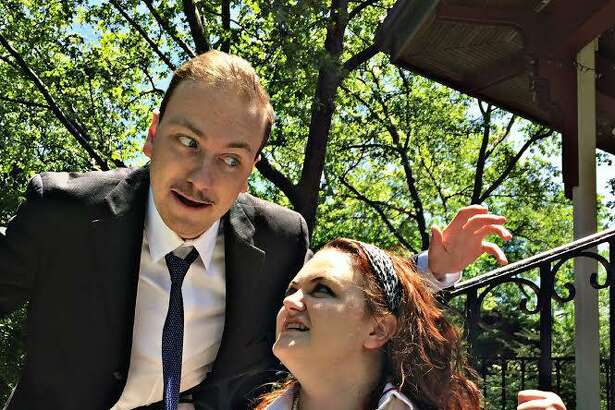 "Michael Gardiner plays Petruchio and London Griffith is Katherina in the 1960s era ""The Taming of the Shrew"" set for an outdoor performance in Stratford July 1."