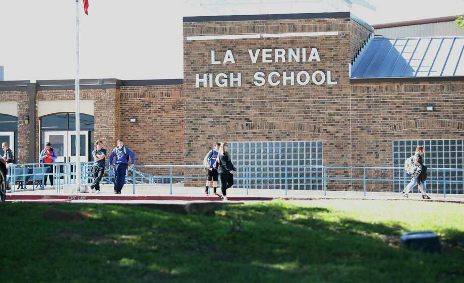 Students from La Vernia High School leave the campus after the final bell on March 30, 2017. In the wake of recent events which resulted in arrests of 10 students for hazing other students and charged with sexual assault, La Vernia ISD Superintendent Jose H. Moreno has urged his staff, administrators and teachers to help students return to normalcy. Photo: Kin Man Hui /San Antonio Express-News / ©2017 San Antonio Express-News