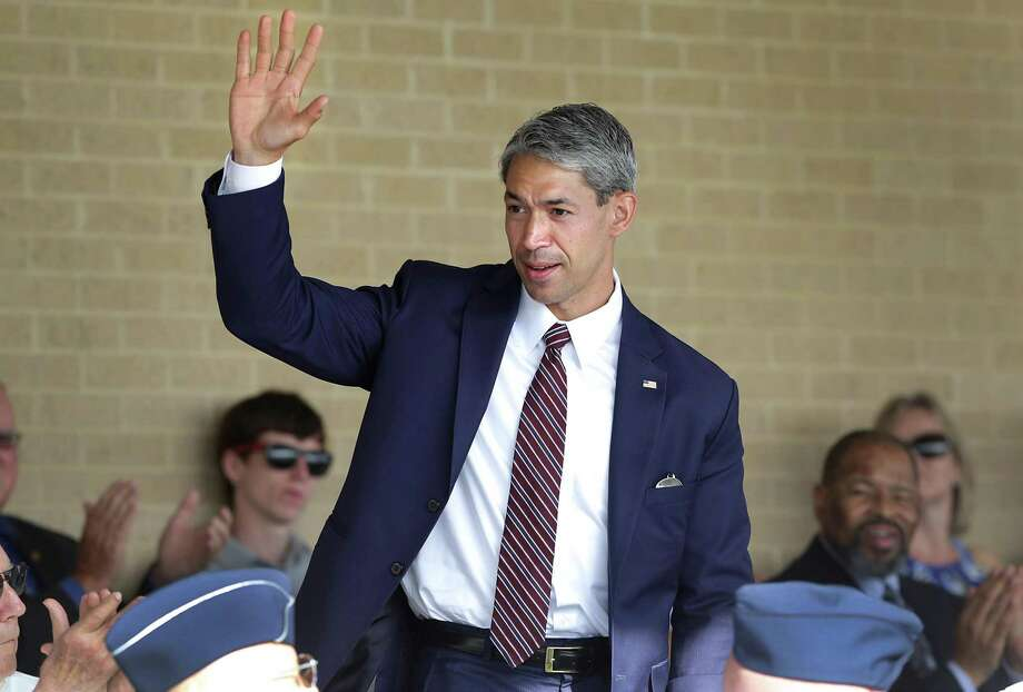"Mayor-elect Ron Nirenberg attends basic military training graduation at Joint Base San Antonio-Lackland on June 16. He was tagged as ""Liberal Ron"" during the campaign, but it didn't seem to fly with voters. Perhaps the power of such labels is diminishing. Photo: Bob Owen /San Antonio Express-News / ©2017 San Antonio Express-News"