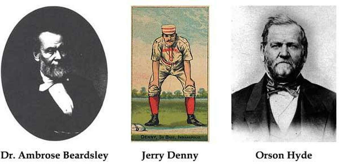 Dr. Ambrose Beardsley, Jerry Denny and Orson Hyde are the three newest inductees into Derby's Hall of Fame