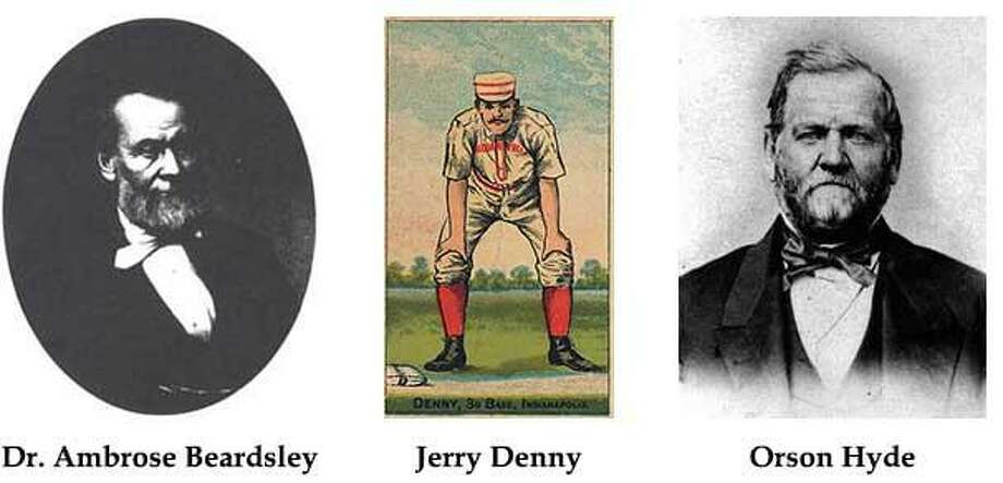 Dr. Ambrose Beardsley, Jerry Denny and Orson Hyde are the three newest inductees into Derby's Hall of Fame Photo: / Contributed Photo