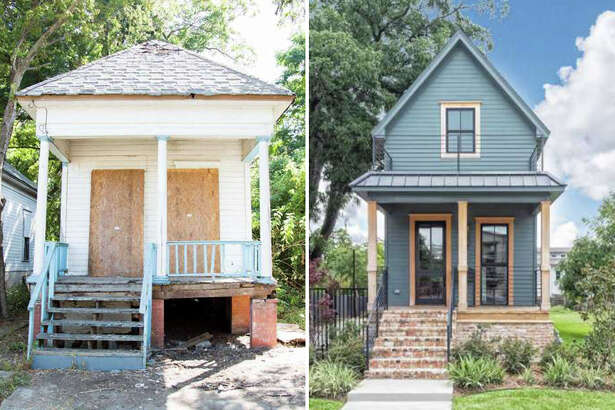 The Shotgun House featured on Season 3 of 'Fixer Upper' is on the market for $950,000.  Keep clicking to see the Waco home's transformation from a crumbling shack to a luxe tiny home.