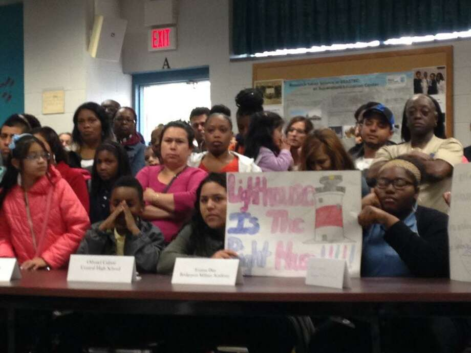Bridgeport school board meeting was filled with Lighthouse supporters on Monday Photo: Linda Conner Lambeck / Linda Conner Lambeck