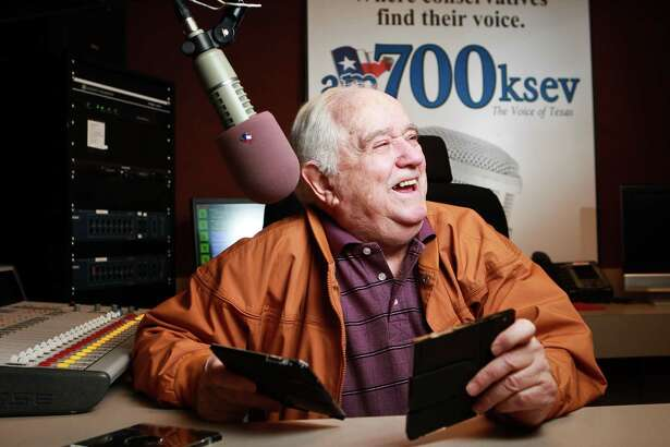 Paul Berlin talks about his career in radio and entertainment, Wednesday, March 13, 2013, in Houston. ( Nick de la Torre / Chronicle )