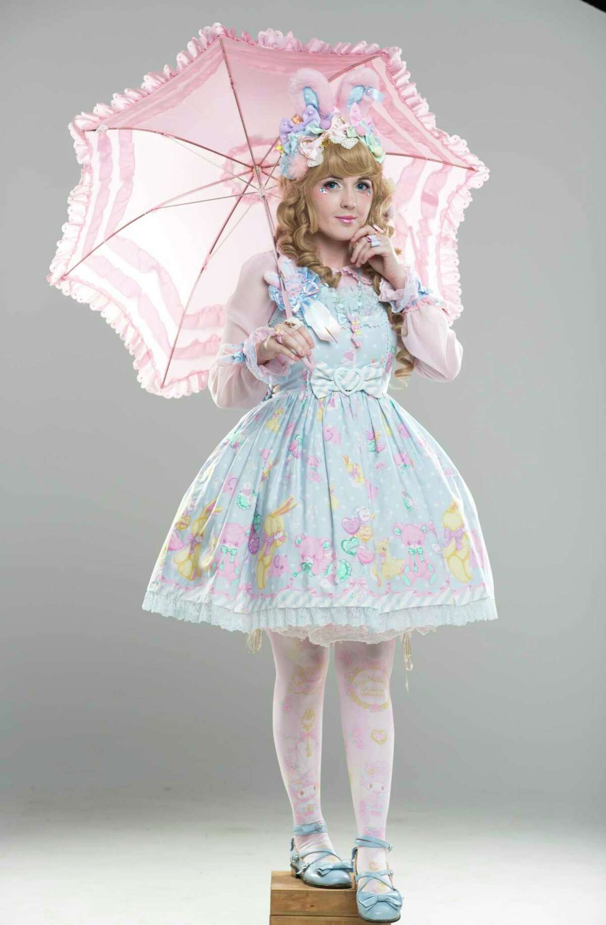 Stevie Quinlan poses for a photo in her sweet Lolita fashion on Sunday, May 7, 2017, in Houston. ( Yi-Chin Lee / Houston Chronicle )
