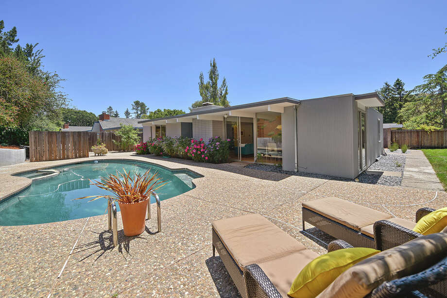 A four-bedroom, two-bath San Rafael Eichler on a 10,158-square-foot-lot is on the market for $1.4 million. Photo: Marin Modern Real Estate