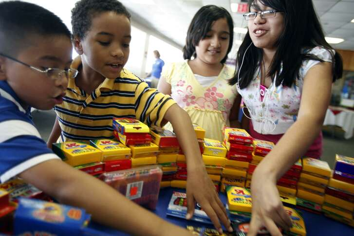 Operation Homefront of Texas in 2009 gave out about 550 backpacks filled with school supplies to San Antonio area military children, to relieve the financial burden on military families. Helping military families — which move often — adjust to school is one of the many ways such families can be helped.