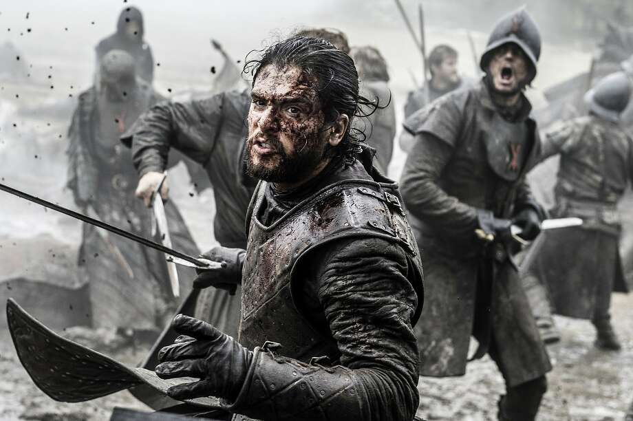 "In this image released by HBO, Kit Harington appears in a scene from ""Game of Thrones."" HBO said Thursday that the series will return for its seventh season on Sunday, July 16. (Helen Sloan/HBO via AP) Photo: Helen Sloan, Associated Press"