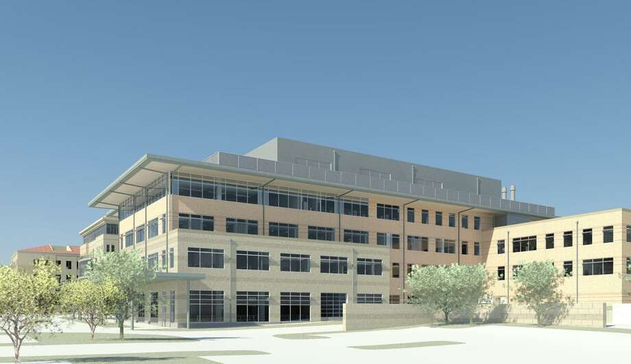 A rendering of University of Texas at San Antonios new science and engineering building, which will house a two-story distillation column to accompany the university's new chemical engineering program. Photo: Courtesy /