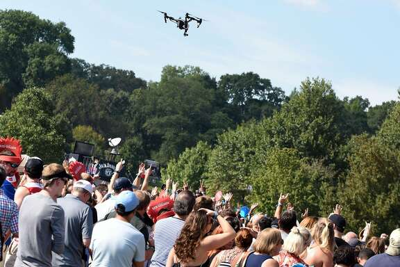ATLANTA, GA - SEPTEMBER 19:  A drone flies over the audience at Music Midtown at Piedmont Park on September 19, 2015 in Atlanta, Georgia.  (Photo by Chris McKay/Getty Images for Live Nation)
