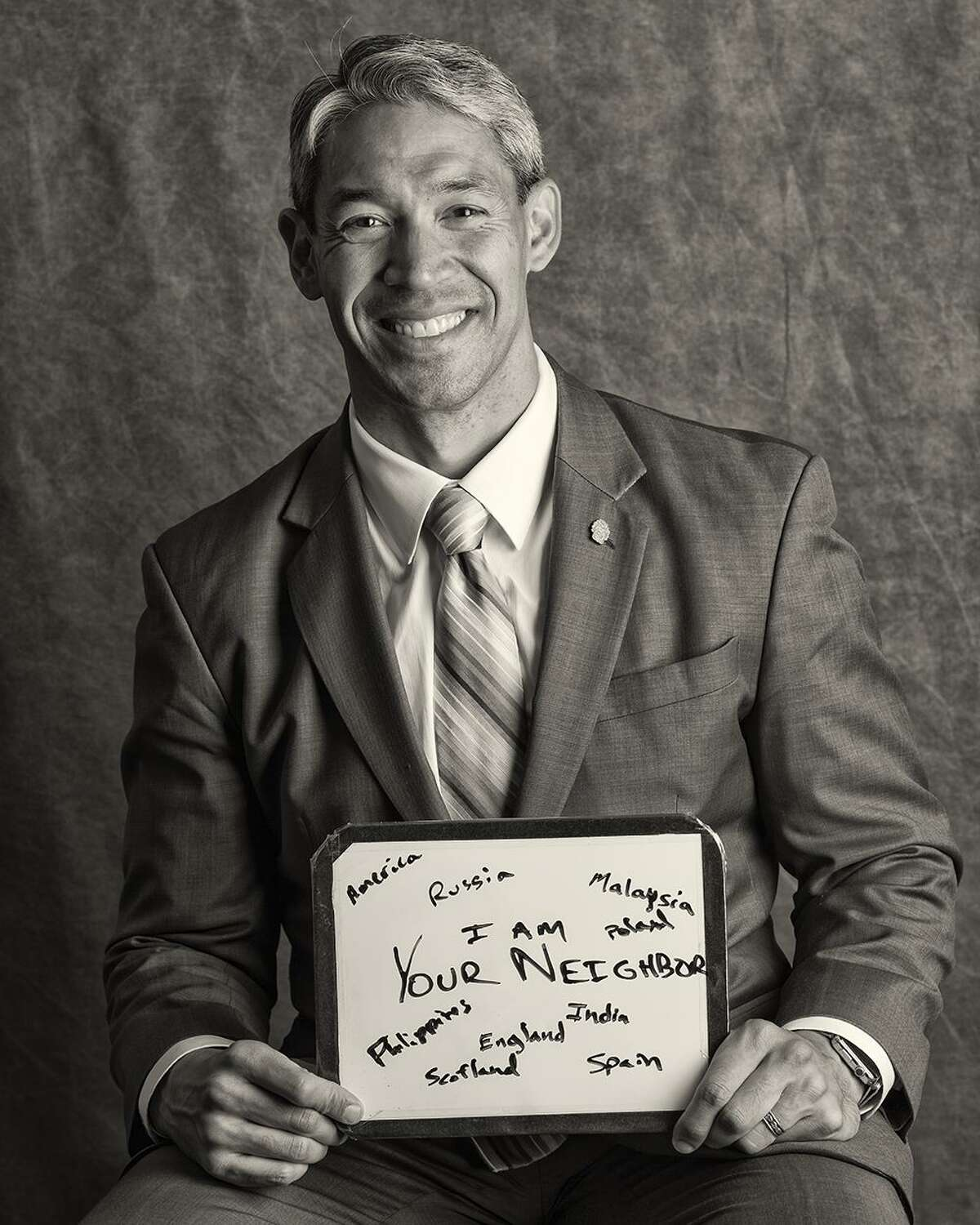 """Newly elected mayor Ron Nirenberg is one of the participants in """"Huddled Masses, Who We Are,"""" the latest portrait project by photographer Ramin Samandari."""