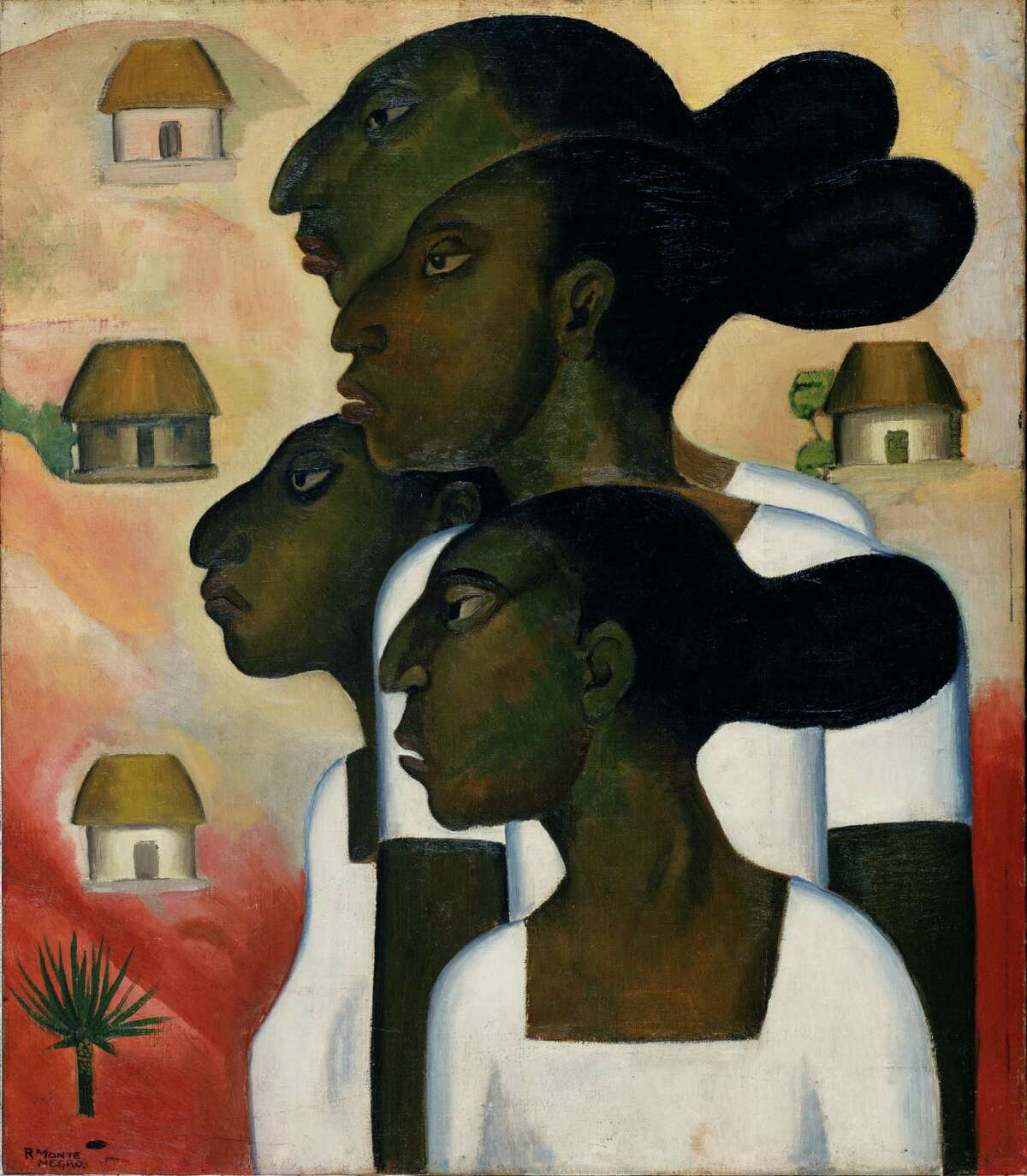 Montenegro, Roberto (1885-1968): Maya Women, 1926. New York, Museum of Modern Art (MoMA) Oil on canvas, 31 1/2 x 27 1/2 (80 x 69.8 cm). Gift of Nelson A. Rockefeller. Acc. n.: 560.1941.*** Permission for usage must be provided in writing from Scala. May have restrictions - please contact Scala for details. ***