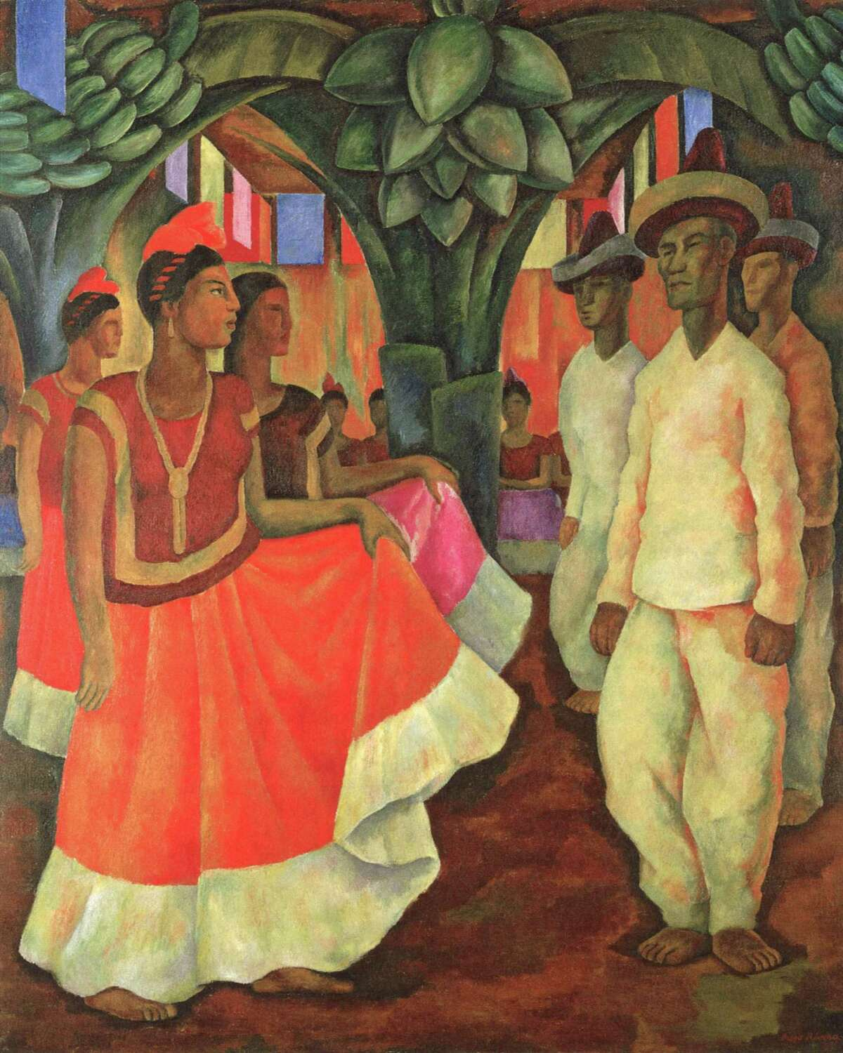 """Diego Rivera's 1929 painting """"Dance in Tehuantepec."""""""