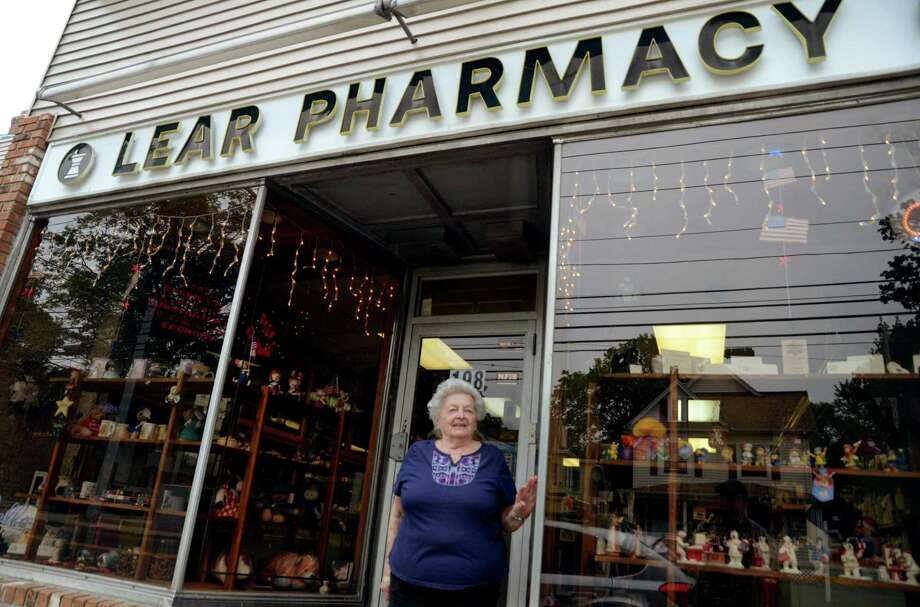 Ansonia Alderwoman Joan Radin outside her O'Lear Pharmacy on Wakelee Avenue questions whether the city should be spending $480,000 on the $4.8 million reconstruction of Wakelee when it has asked departments to cut spending. Photo: Christian Abraham / Hearst Connecticut Media / Connecticut Post