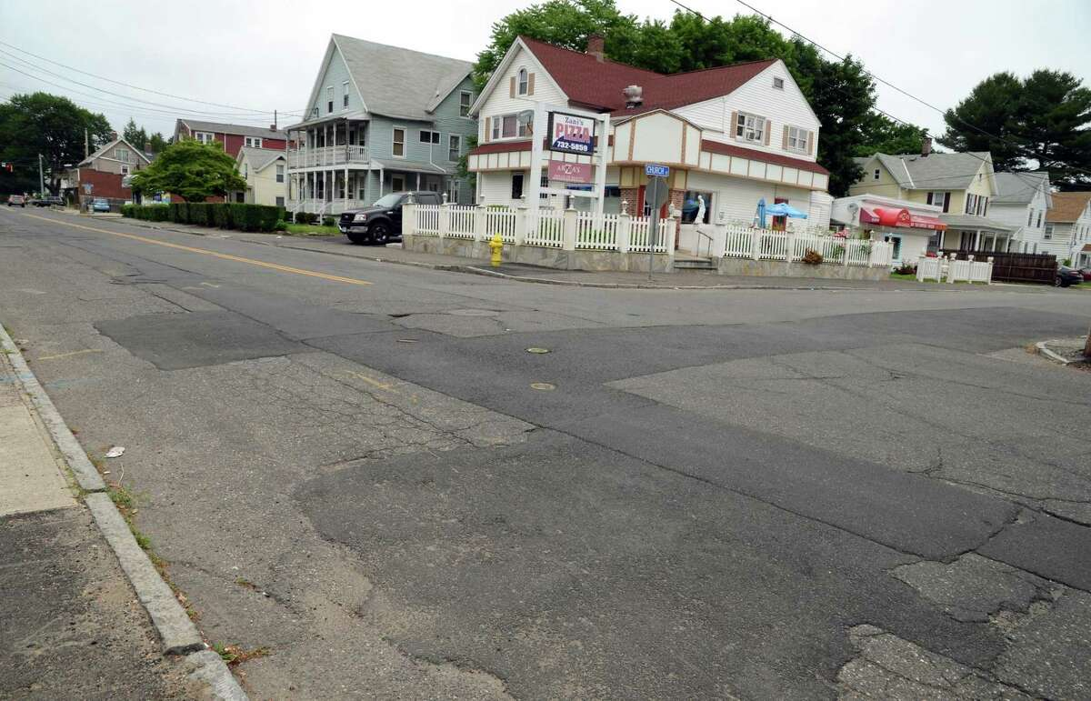 Installation of new natural gas pipelines last fall left Ansonia's Wakelee Avenue a patchwork mess.