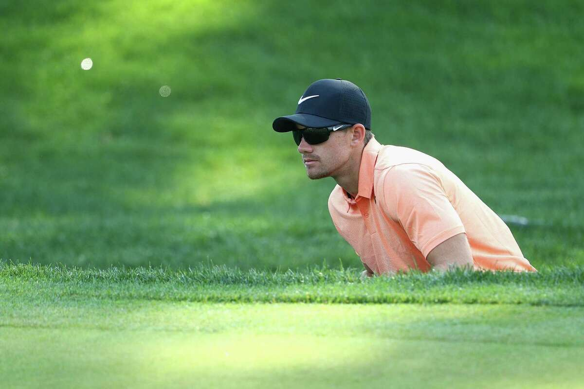 CROMWELL, CT - JUNE 23: Patrick Rodgers of the United States prepares to play a shot on the 18th hole during the second round of the Travelers Championship at TPC River Highlands on June 23, 2017 in Cromwell, Connecticut. (Photo by Maddie Meyer/Getty Images)