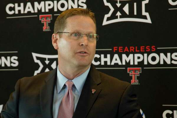 Kirby Hocutt, Texas Tech athlitic director announces Monday 02-15-16 the return of Tech athletics to Midland with baseball playing Abilene Christian on April 2 at Security Bank Ballpark and Tech spring football scrimage April 5 at Grande Communications Stadium. Tim Fischer/Reporter-Telegram