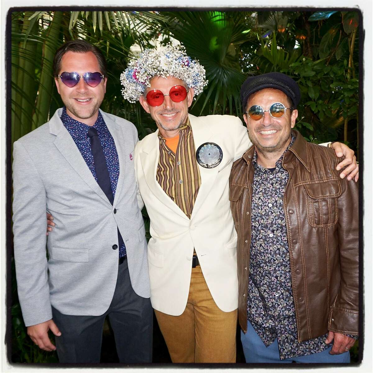 Conservatory of Flowers Director Matthew Stephens (left) with Illuminate founder Ben Davis & SF Rec & Parks GM Phil Ginsburg. June 21, 2017.