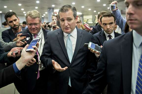 Senator Ted Cruz and other conservative senators say they oppose the Senate GOP health bill as written.(Photo by  Andrew Harrer / Bloomberg)