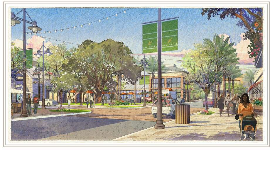An artistic rendering of the proposed Oak Knoll development Photo: SunCal Handout