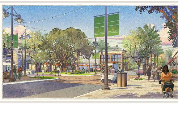 An artistic rendering of the proposed Oak Knoll development