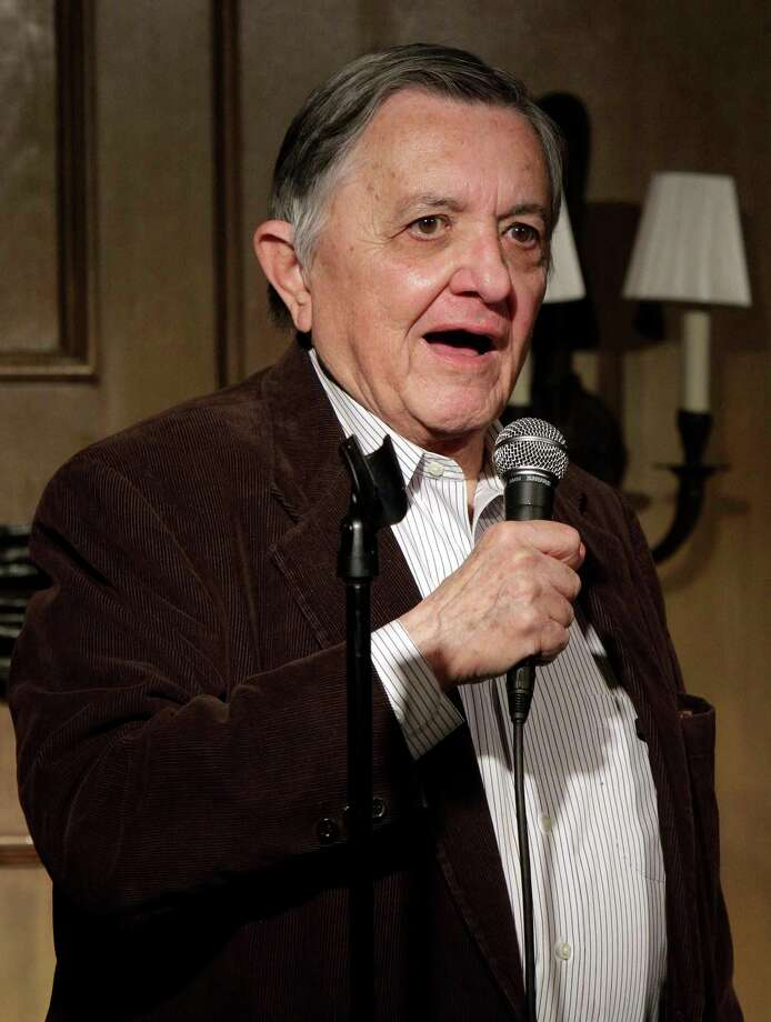 FILE--This photo from Monday, March 28, 2011 shows broadcast reporter Gabe Pressman as he appears at the Friar's Club, in New York. Pressman, an intrepid, Emmy-winning journalist who still relished going to work at the age of 93, died early Friday, June 23, 2017 at a Manhattan hospital. (Photo by Richard Drew, File) ORG XMIT: NYR203 Photo: Richard Drew / Copyright 2017 The Associated Press. All rights reserved.