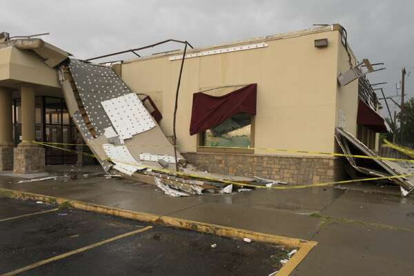 The Grand Buffet at Andrews Hwy and Louisianan was damaged by strong winds 6/23/17 evening as a storm blew through Midland.  Tim Fischer/Reporter-Telegram