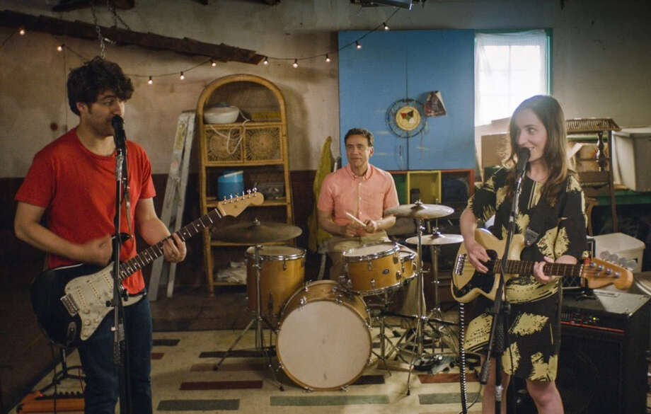 "Zoe Lister-Jones as Anna, Adam Pally as Ben and Fred Armisen as Dave in Zoe Lister-Jones' new film ""Band Aid."" MUST CREDIT: Courtesy of IFC Films. Photo: Courtesy Of IFC Films / The Washington Post"