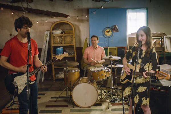 """Zoe Lister-Jones as Anna, Adam Pally as Ben and Fred Armisen as Dave in Zoe Lister-Jones' new film """"Band Aid."""" MUST CREDIT: Courtesy of IFC Films."""