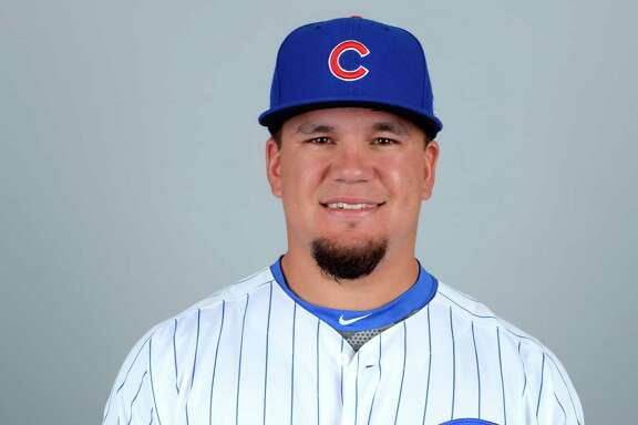 MESA, AZ - FEBRUARY 21:  Kyle Schwarber #12 of the Chicago Cubs poses during Photo Day on Tuesday, February 21, 2017 at Sloan Park in Mesa, Arizona.  (Photo by Ron Vesely/MLB Photos via Getty Images) *** Local Caption *** Kyle Schwarber