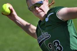 Shenendehowa pitcher #23 Nicole McCarvill warms up before their game against Troy High Thursday May 11, 2017 in Clifton Park, NY.  (John Carl D'Annibale / Times Union)