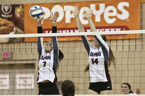 Megan Unrath, right, is one of two Dustdevils returning this year. TAMIU was tabbed to finish seventh in the preseason Heartland Conference poll.