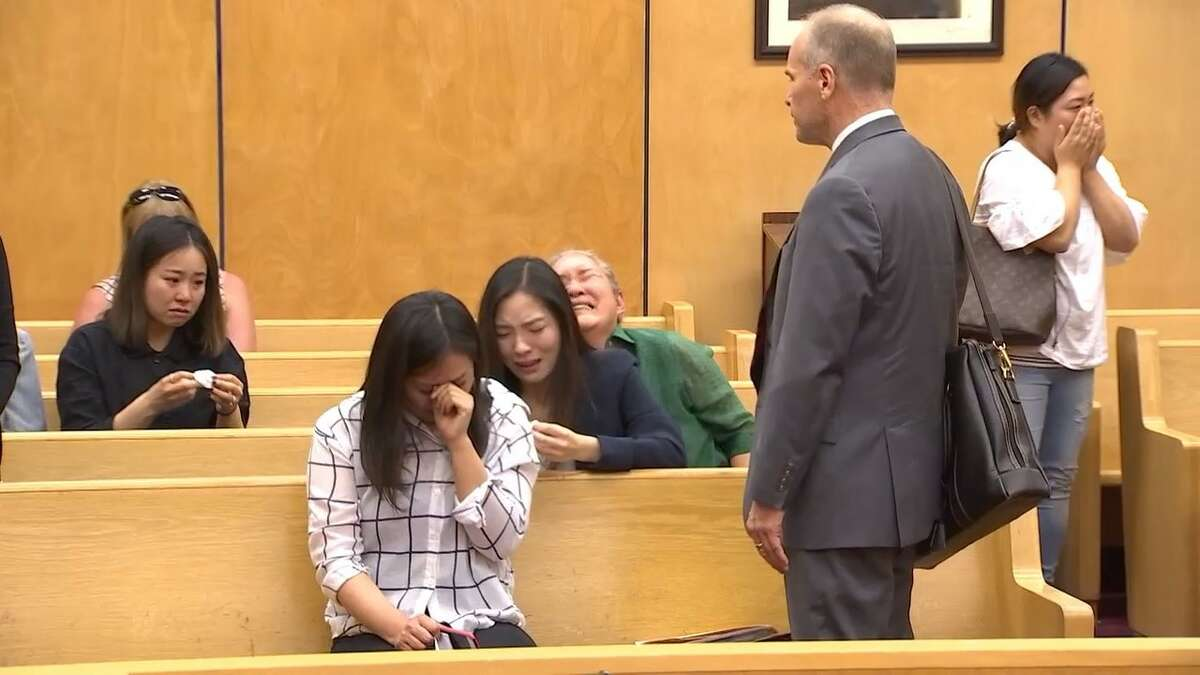 Min Kim, a Spanaway convenience store owner, was sentenced to eight years in prison on Friday for shooting and killing a fleeing shoplifting suspect in 2016.