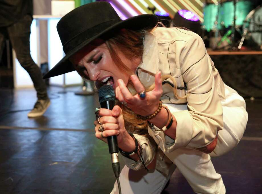 Stephanie Rice performs performs at the Seventh Annual Rainbow on the Green at Discovery Green musical event Friday, June 23, 2017, in Houston. Photo: Yi-Chin Lee, Houston Chronicle / © 2017  Houston Chronicle